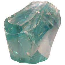 massive chunk of old factory aqua glass cullet for