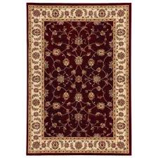 claire red beige 8 ft x 10 ft area rug