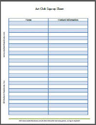 Free Sign Up Sheet Template Printable Free Printable Sign Up Sheets For Everything Student Handouts