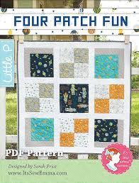 Four Patch Fun Downloadable PDF Quilt Pattern It's Sew Emma Little ... & Four Patch Fun Downloadable PDF Quilt Pattern It's Sew Emma Little P Adamdwight.com