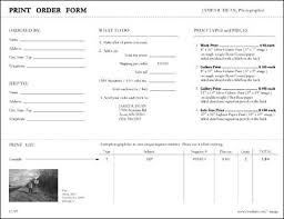 Photographer Release Forms Classy James R Dean Photographer Order Forms Within Photography Order Form