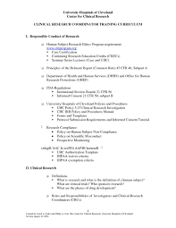 Clinical Research Coordinator Resume Resume Work Template