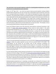 dentistry personal statement example dentistry personal statement sample