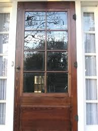 astounding wood storm doors wooden with interchangeable screen and window inserts glass door kit 6 panel