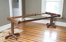 Hand Quilting Frames   eBay & Antique VICTORIAN Wooden Quilting Rack Quilt Table Frame Hand Cut Gear  Primitive Adamdwight.com