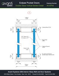 eclipse glass pocket doors technical drawing details interior home design interior design certification
