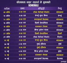 Ipl 2018 Time Table Schedule Team Full Squad Players List
