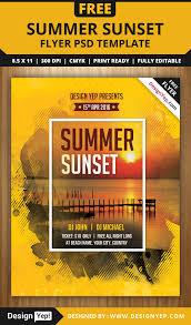 summer sunset beach party flyer psd template designyep summer sunset beach party flyer psd template