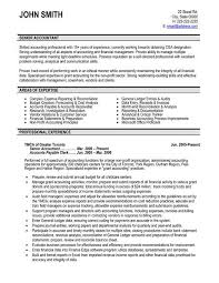 Example Of Accountant Resumes Accounting Accountant Resume Sample Resume Templates