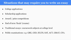 writing an a college essay paper 3 situations that require you to write an essay acirc151139 college