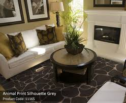 animal print rugs grey 1