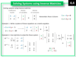 26 solving systems using inverse