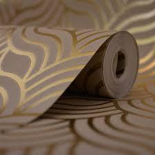 precious silks art deco wallpaper beige gold 601534