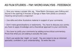 micro essay feedback