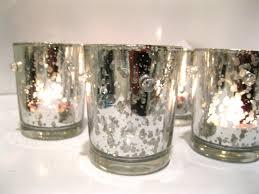mercury glass votives silver holder