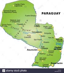Card Outline Card Outline Paraguay Borders Atlas Map Of The World Map Stock