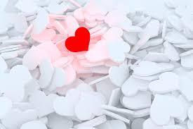 heart love feelings red hearts postcard white