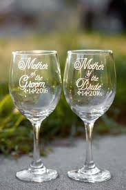 mother of the bride wine glass and groom glasses with wedding date hand engraved set 2