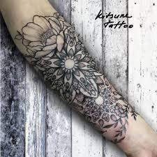 орнамент узор украшение цветы чб тату Tattoo тату татуировки и