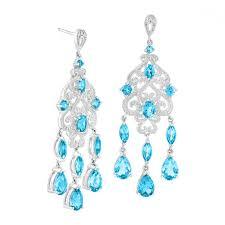 blue chandelier earrings ct natural swiss blue topaz chandelier earrings with diamonds in sterling silver