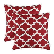 maroon decorative pillows. Contemporary Decorative CaliTime Pack Of 2 Throw Pillow Covers Cases For Couch Sofa Home Decor  Modern Quatrefoil Accent Geometric 18 X Inches Burgundy Inside Maroon Decorative Pillows