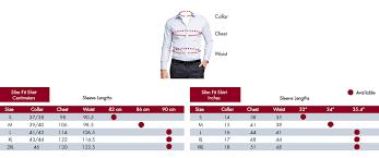 Van Heusen Size Chart Van Heusen Fit Guide Size Chart Van Heusen Australia