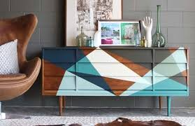 mid century modern furniture restoration. an abstract geometric design compliments the straight lines of mid century modern pieces very well furniture restoration m