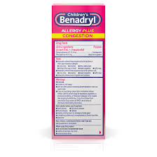 children s benadryl allergy plus congestion liquid g 4 fl oz walmart