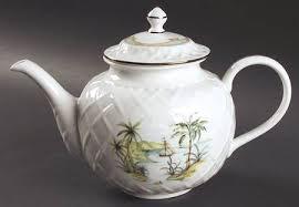 lenox british colonial. Interesting Lenox Lenox British Colonial Scenic Accessories Carved Teapot U0026 Lid In N