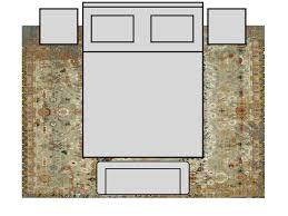 bedroom king size bed 10x14 rug