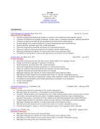 Printer Resume