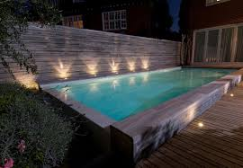 swimming pool lighting design. In-ground Swimming Pool / Concrete Overflow Outdoor HAMPSTEAD GUNCAST SWIMMING POOLS Lighting Design