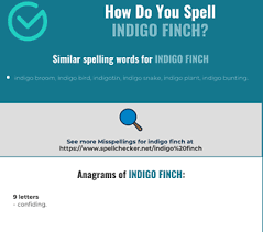 In british police work the use of 'india' has been replaced by 'indigo'. Correct Spelling For Indigo Finch Infographic Spellchecker Net