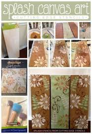 using the splash pattern wall stencil kit from cutting edge stencils to create gorgeous wall art diy canvascanvas  on diy stencil canvas wall art with diy stenciled wall art using the wake up and be awesome stencil from