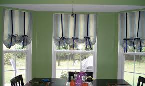 Home Design  Top Dining Room Bay Window Curtain Ideas On Remodel - Dining room curtain designs