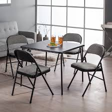 Meco Sudden Comfort Deluxe Double Padded Chair And Back 5 Piece Cosco Card Table And Chair Sets