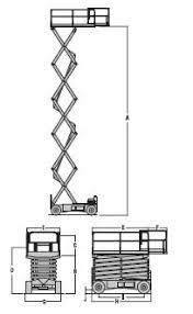 scissor lift model jlg m4069le tpl dimensional data