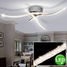 Led Ceiling Lights For Living Room Details About Luxury Led Ceiling Light Living Room Crystal Optic Waves Lamp Eek A Spotlight