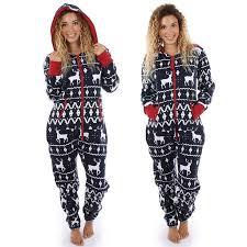 Womens Long Sleeve Hoodies 3D <b>Christmas Elk Printed</b> Jumpsuit ...
