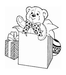Small Picture A Cute Teddy Bear for Christmas Presents Coloring Page Download