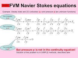 fvm navier stokes equations