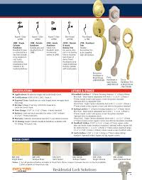 Us32d Finish Chart Schlage Dexter Residential Lock Users Manual