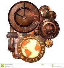Futuristic Clock Steampunk Clock And Gears Royalty Free Stock Image Image 31295736