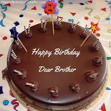 Birthday Wishes Cake With Name For Brother Happy Birthday Day Dear