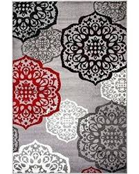 red black gray white rug and area rugs new summit elite s modern abstract design