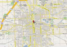 map of indiana state map of usa Ft Wayne Indiana Map map%2bof%2bfort%2bwayne fort wayne indiana map