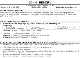 Dental Resume Template Best of Cv Dentist Sample Rioferdinandsco