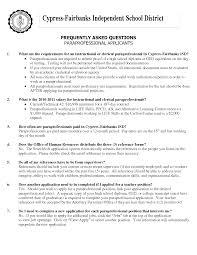 Paraprofessional Resume Summary Best Of Paraprofessional Resume