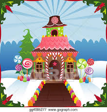 gingerbread house clipart background. Exellent Clipart Snowy Gingerbread House And Clipart Background G