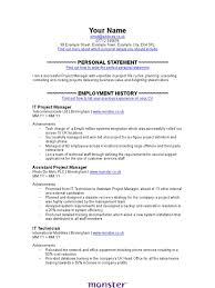 It Project Manager Cv Template Project Manager Employment